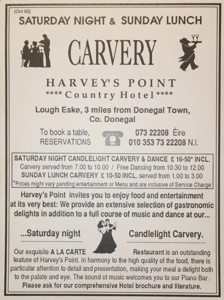 Vintage Advert - The History of Harvey's Point