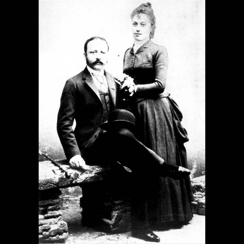 César and Marie-Louise Ritz as a newly-wed couple (1888)