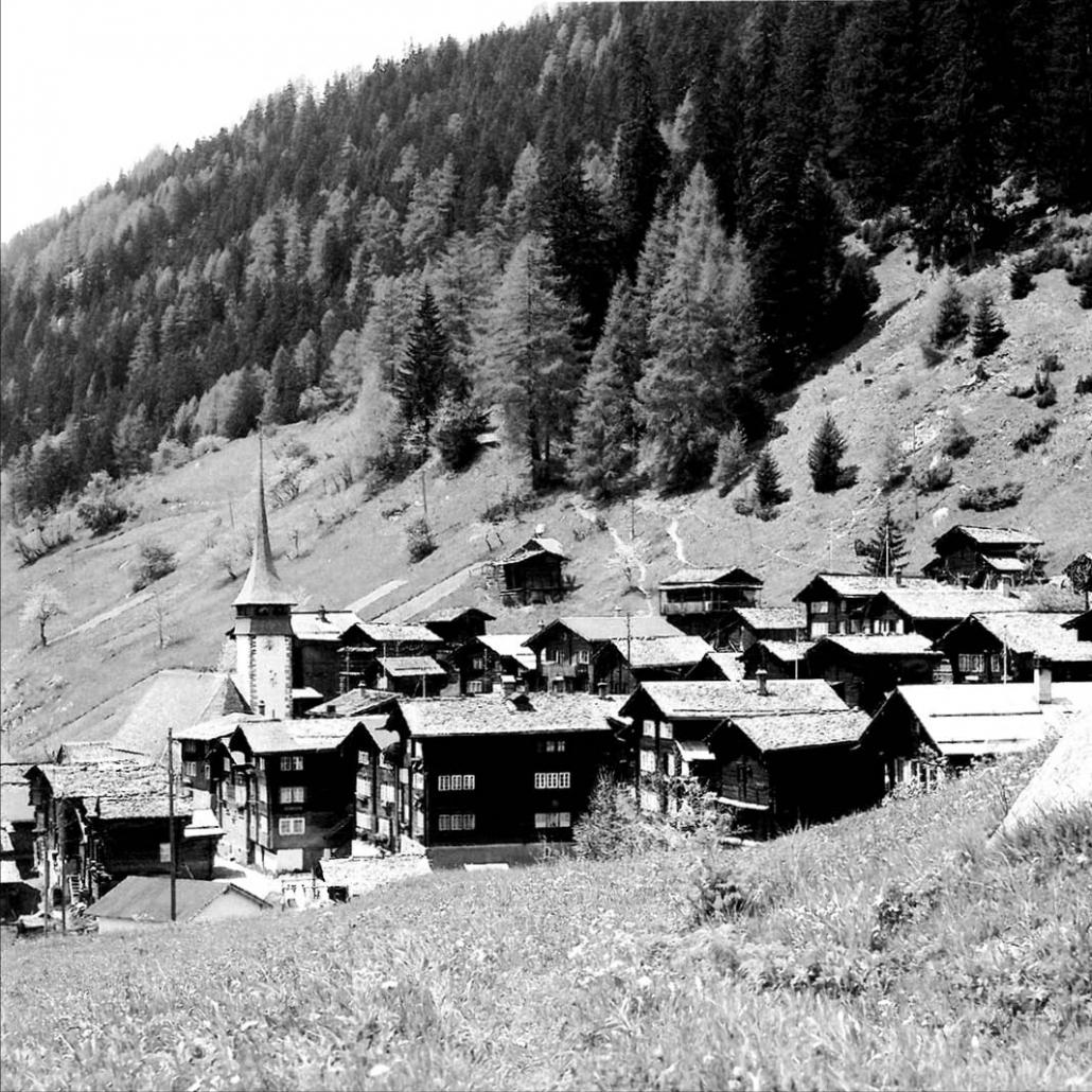 Niederwald, César Ritz's native village in the lower Goms. When he was born in 1850, it had a population of just 123 inhabitants.