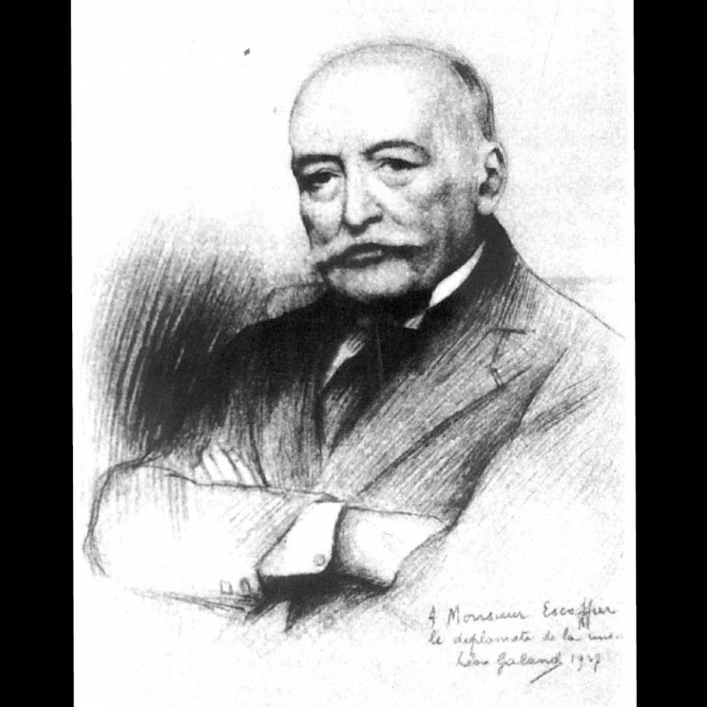 The famous French Auguste Escoffier, whose creations included the dessert Pêche Melba, was César Ritz's closest associate and confidant.