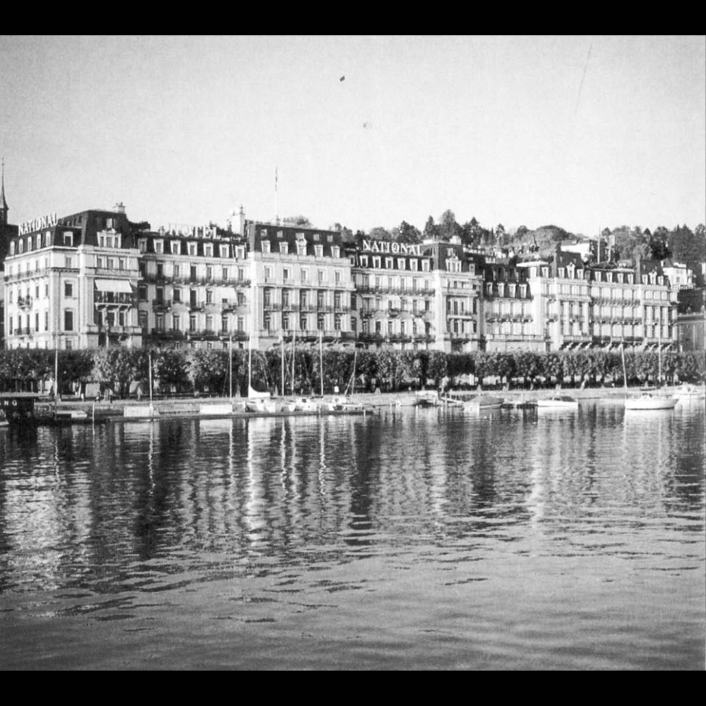 """The hotel """"National"""" in Lucerne"""